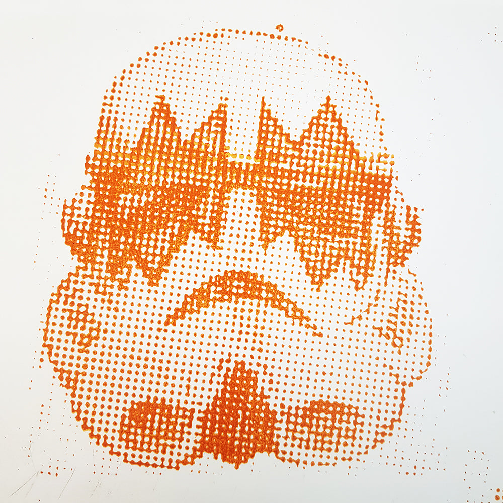 Kiss Storm Trooper Orange Spaceman - hand bill