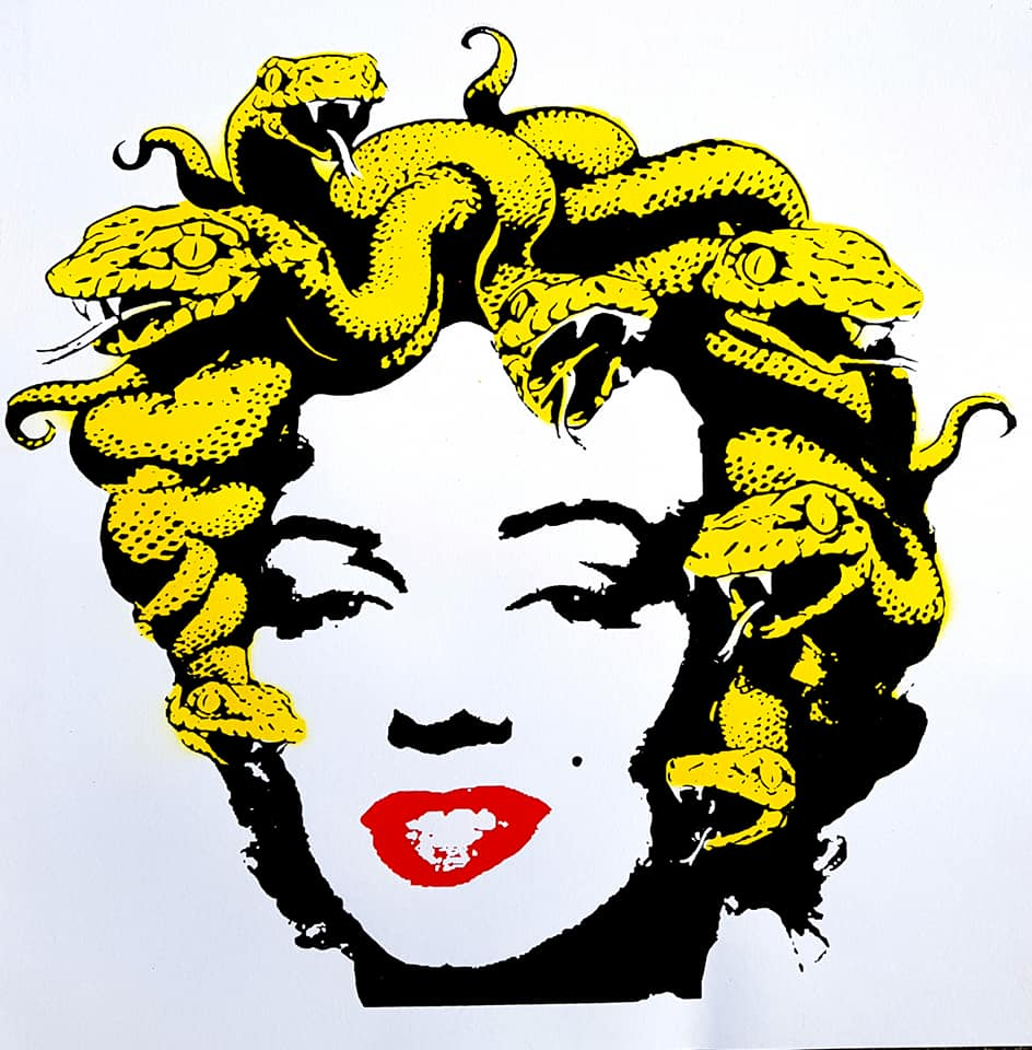 """Marilyn Medusa"" yellow snakes"