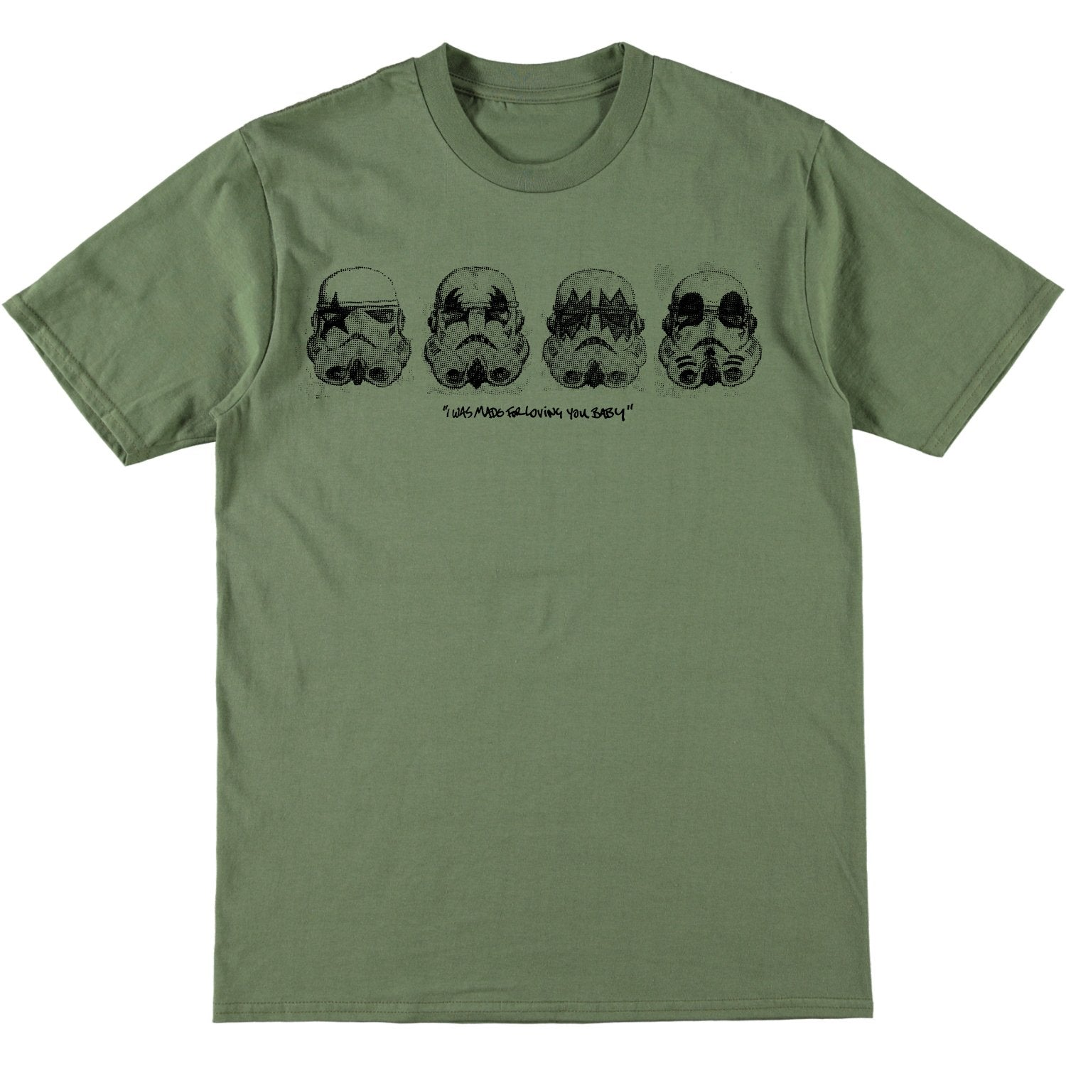 SRM x Trafford Parsons I Was Made For Loving You Tee Line Up Olive