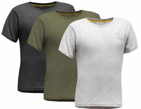 Pfanner Holzer Shirt - 3er Set, ashgrey/new army/brilliantschwarz
