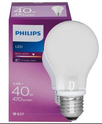 Philips LED Standardlampe E27 4,5W 470lm 2700K 230V