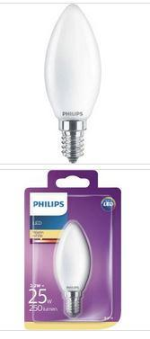 Philips LED Kerzenlampe E14 2,2W 250lm 2700K 230V
