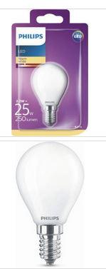Philips LED Tropfenlampe E14 2,2W 250lm 2700K 230V