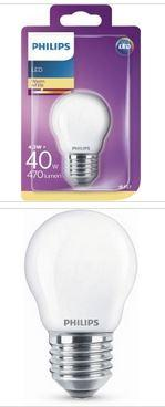 Philips LED Tropfenlampe E27 4,3W 470lm 2700K 230V