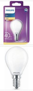 Philips LED Tropfenlampe E14 4,3W 470lm 2700K 230V