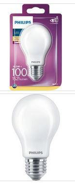 Philips LED Standardlampe E27 10,5W 1521lm 2700K 230V
