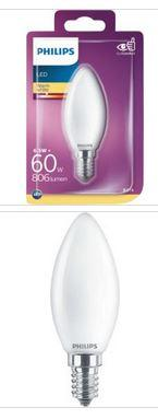 Philips LED Kerzenlampe E14 6,5W 806lm 2700K 230V