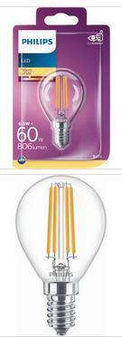 Philips LED Tropfenlampe E14 6,5W 806lm 2700K 230V