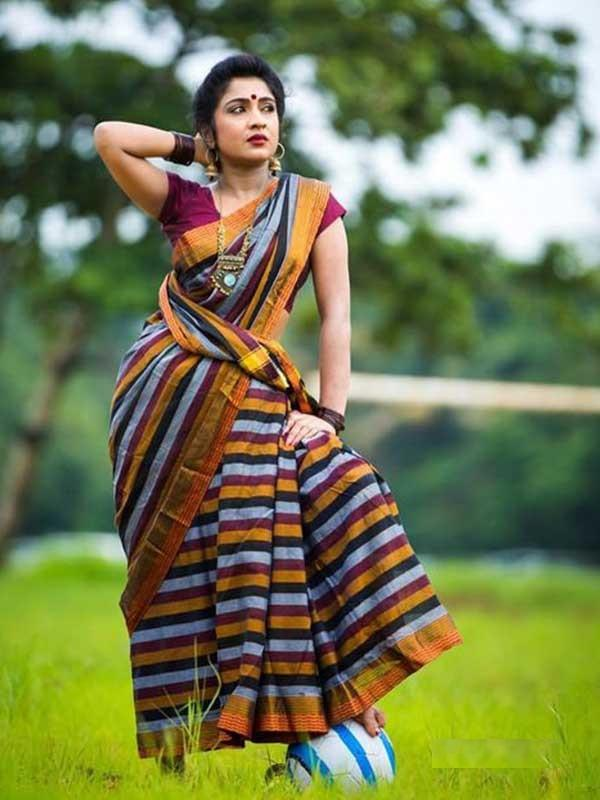 CHARMING MULTI COLORED SOFT SILK SAREE - DN5428