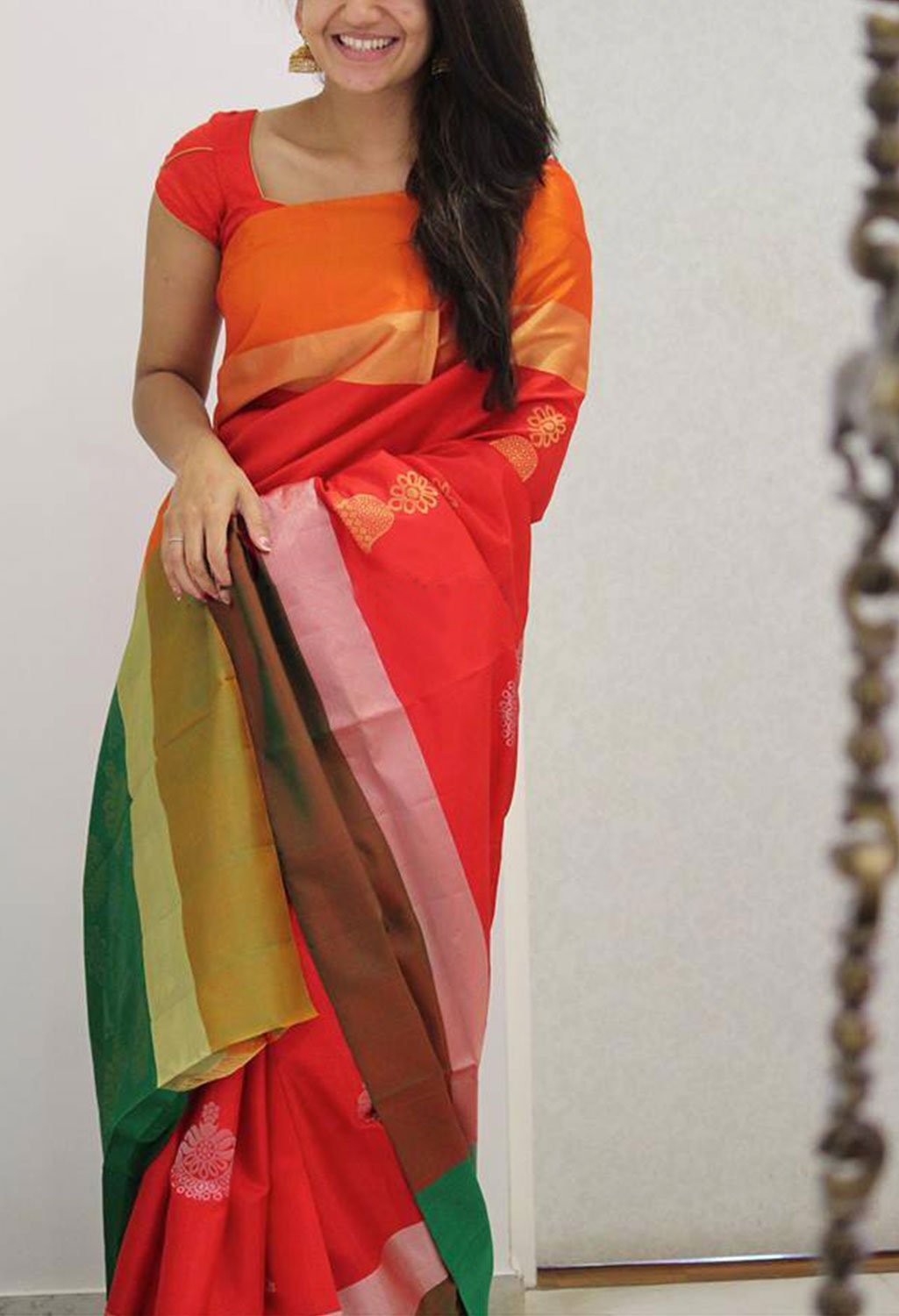 CLASSIC MULTI COLOR SOFT SILK SAREE - SC1090