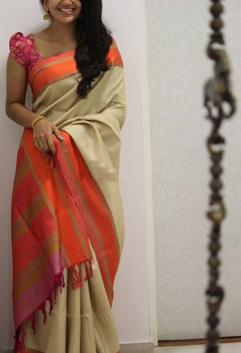 UNIQUE MULTI COLOR SOFT SILK SAREE - SC1174