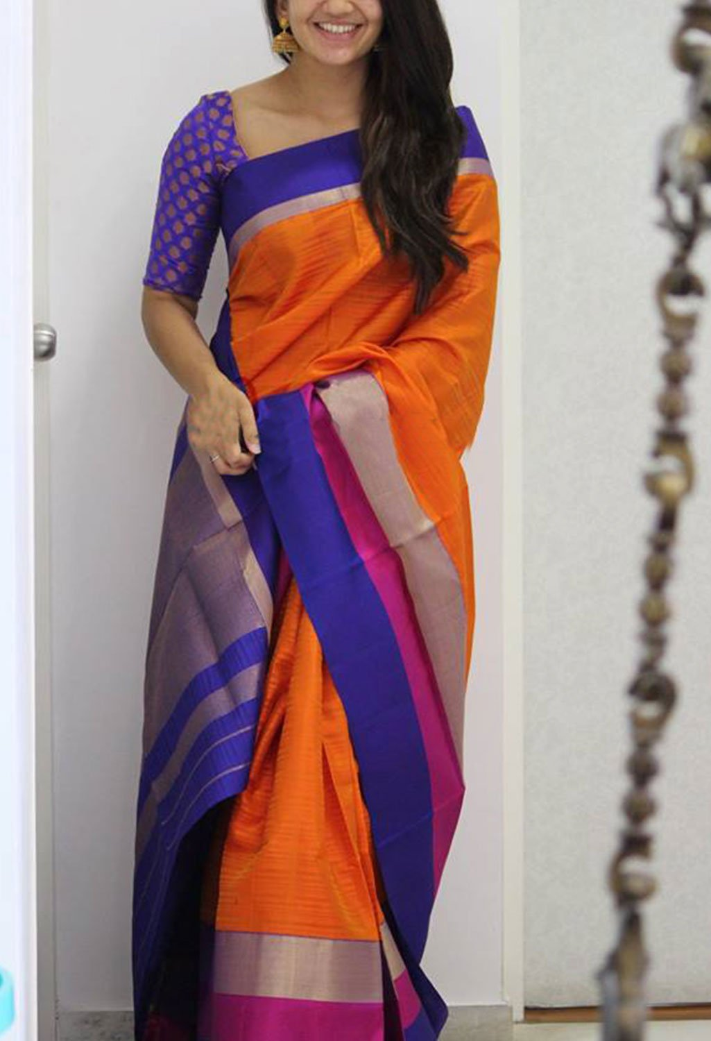 ENRICHING ORANGE COLOR SOFT SILK DESIGNER SAREES - SC1198