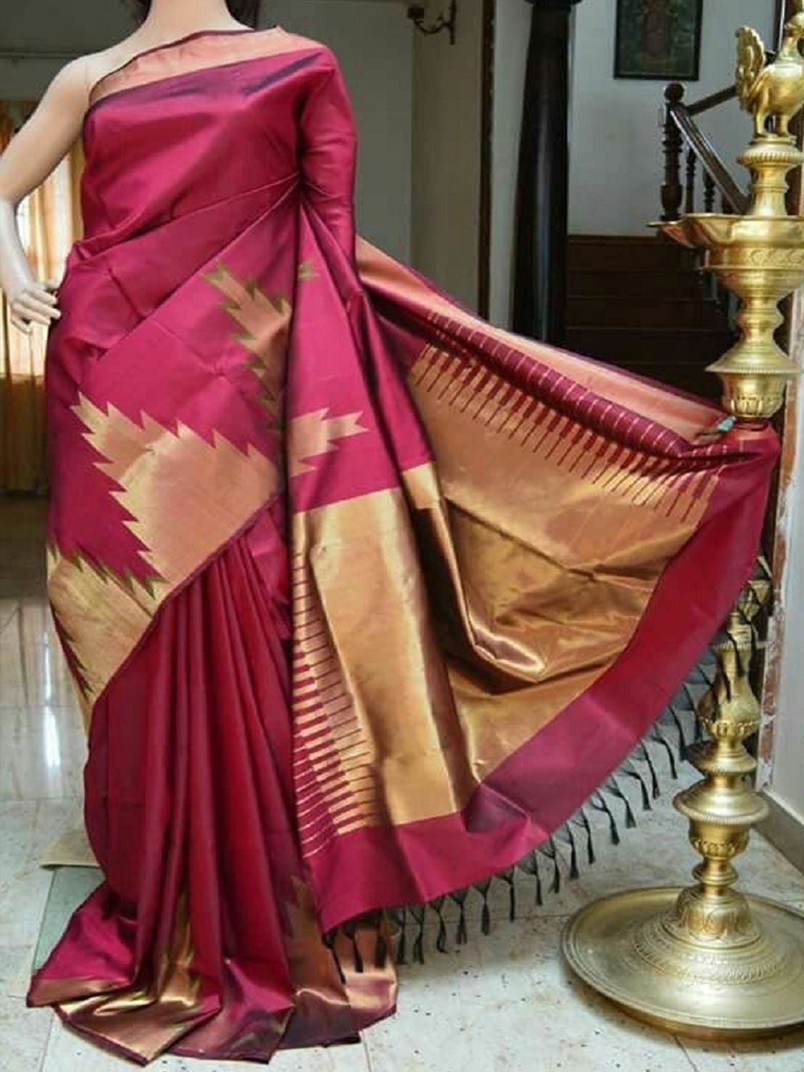 ENGROSSING PINK COLOR SOFT SILK SAREE - SC822
