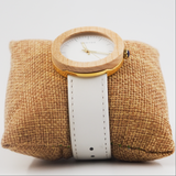Swift Ladies Real Wood and leather Quartz watch - Shaydz