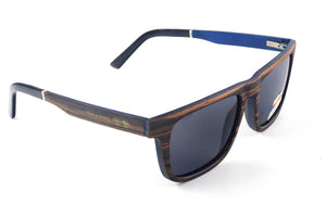 Shaydz sunglasses. Armboth is a classic, large mens rectangular wooden sunglasses.