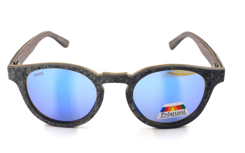 Coniston Real Stone/Wood Sunglasses - Shaydz veneered over the base Walnut  frame with REAL grey stone.