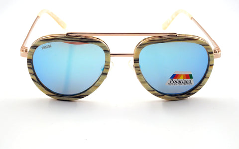 EXCLUSIVE Whiteside Real Wood/Metal Sunglasses (2 Options) - Shaydz