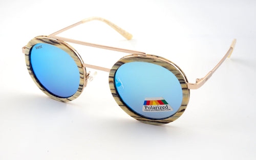 EXCLUSIVE, Bowfell Real Wood/Metal Sunglasses - Shaydz