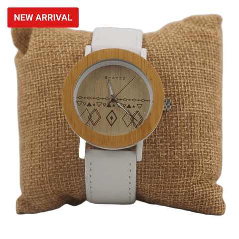 Greenwich Real Wood  and Leather Ladies watch - Shaydz