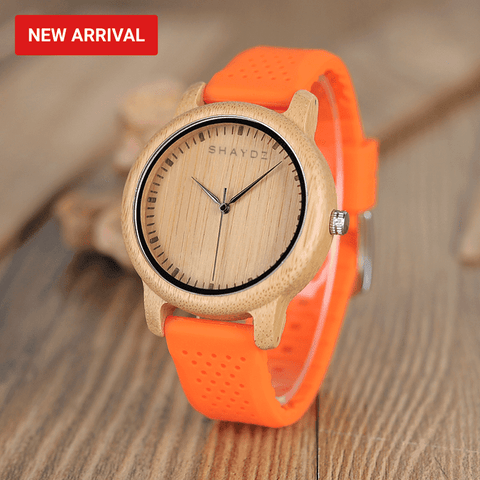 Parton Real wood and Silicon Ladies Quartz watch - Shaydz