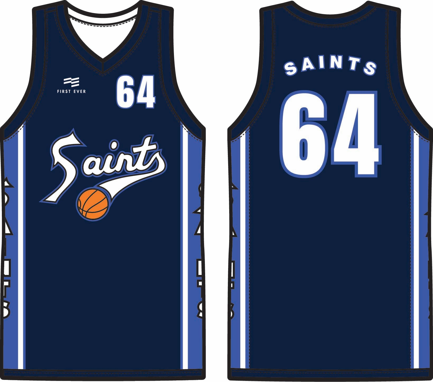 Saints Basketball Club Playing Kit