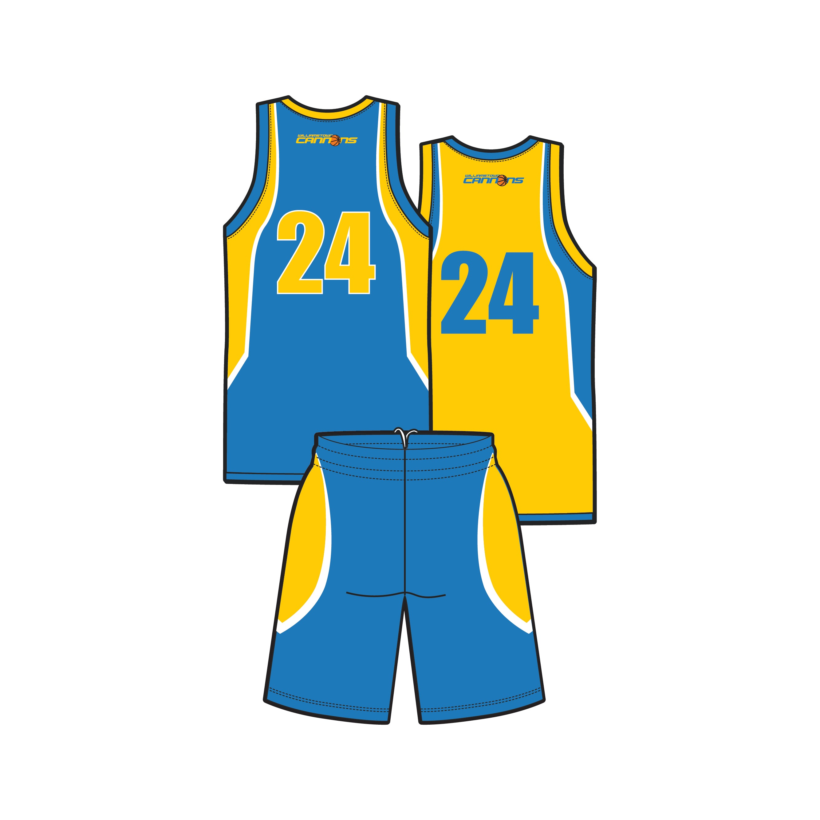 Williamstown Cannons Reversible Playing Kit