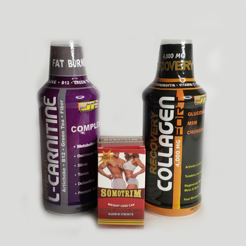 L-Carnitina Complex, Somotrim y Collagen Fort