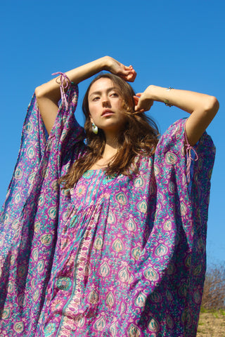 """The Holy Grail"" Rare 1970s Adini Caftan Goddess Dress"