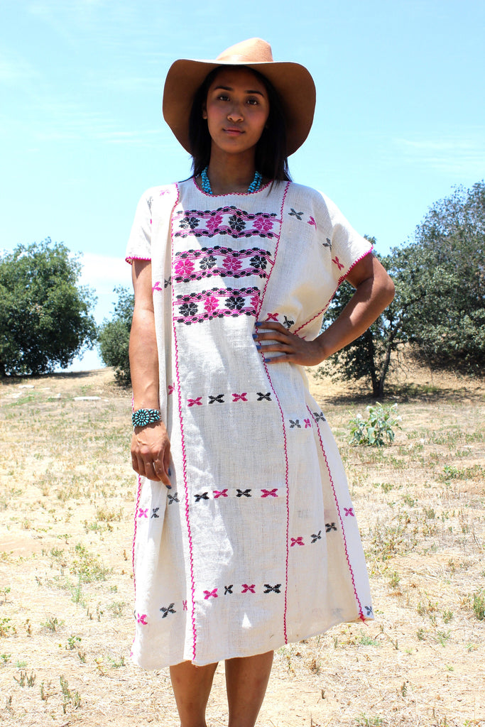 1970s Vintage Huipil Tunic Handwoven Beauty!