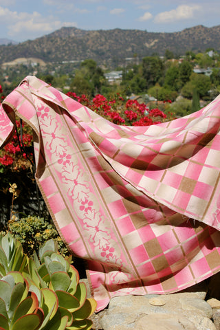 Pretty in Pink Vintage Beacon Blanket