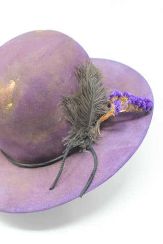"""Violet Hawk"" One of a Kind Lone Hawk Hat"