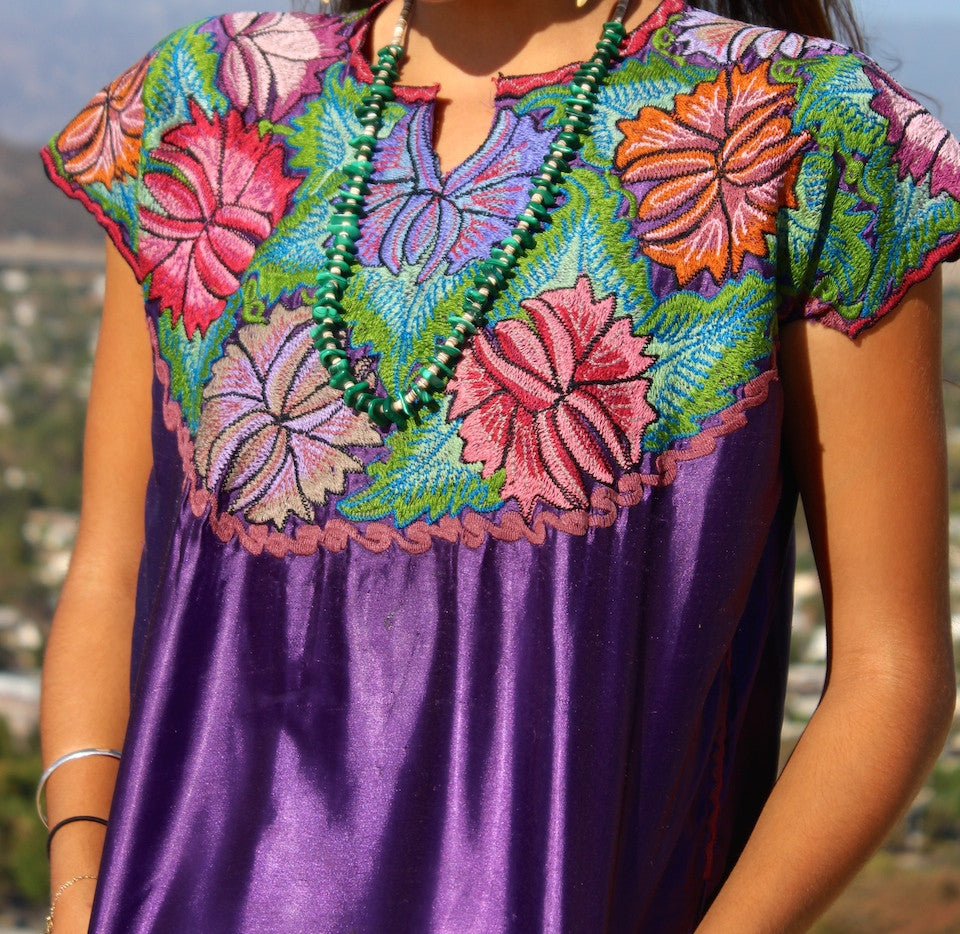 Beautiful Bohemian Embroidered Huipil Blouse