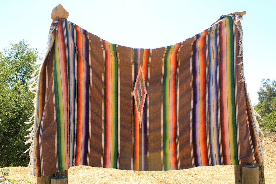 LARGE 1940s Mexican Blanket