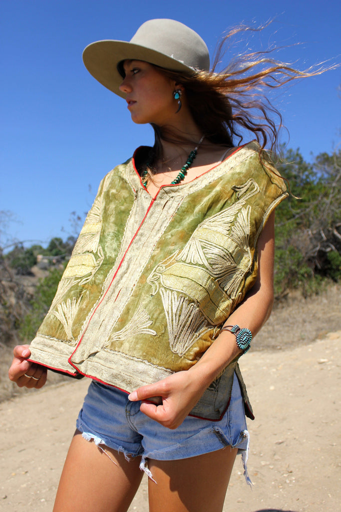 Vintage Afghan Embroidered Vest