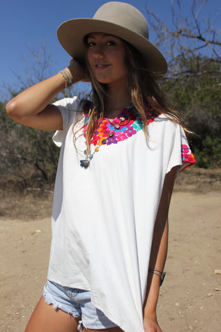 *SALE* Vintage Mexican Hand Embroidered Blouse
