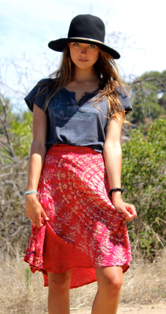 *SALE* Vintage Bohemian Indian Wrap Skirt