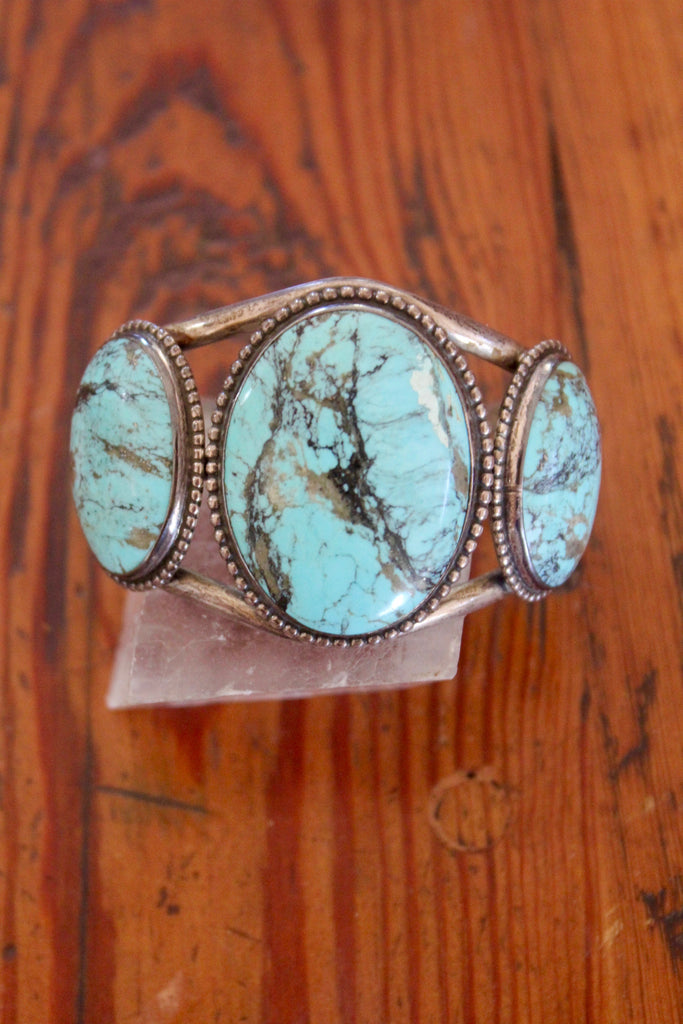 RARE Native American Old Pawn Dry Creek Turquoise Cuff