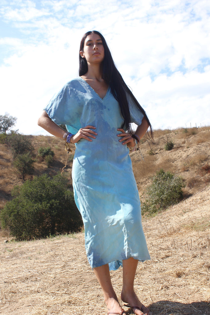 "Hand Dyed ""WaterFall"" Dress by Totally Blown"