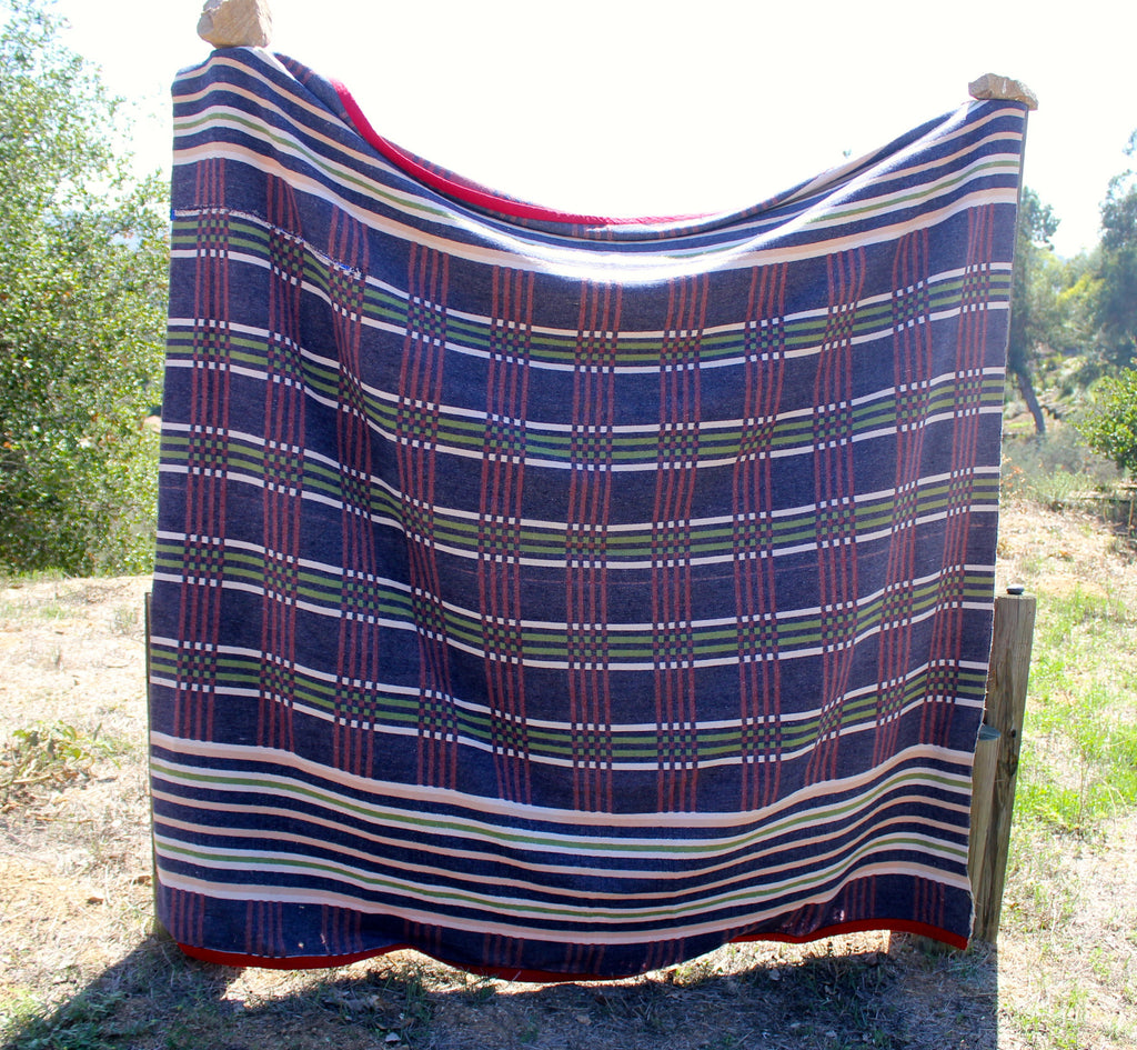 """Linear"" Heathered Antique Camp Trade Blanket"