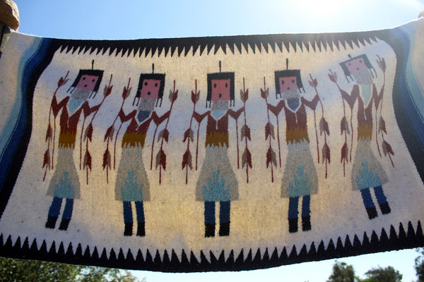 Large Vintage Native American Quot Yei Quot Wall Hanging Rug