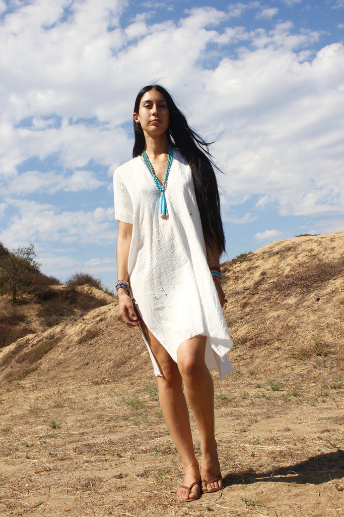 """White Heat"" Tunic Dress by Totally Blown"