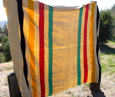 """Hudson Bay""  Woven Wool Trade Blanket"