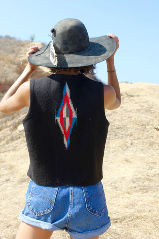 Authentic Vintage Chimayo Handwoven Vest