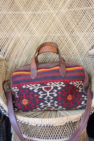 "Honeywood Original ""Gypsy Overnighter"" One of a Kind Carpet Bag"