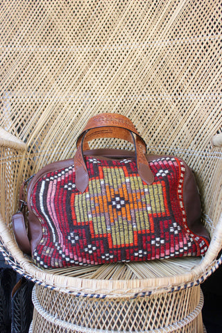 "Honeywood Orginal ""Gypsy Overnighter"" One of a Kind Carpet Bag"