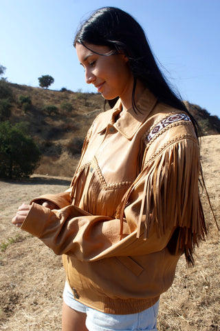 """Buttery Soft"" Native American Style Scully Fringe Jacket"