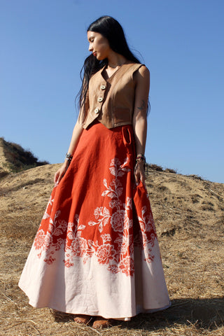 Super Pretty Vintage 1970s Wrap Skirt