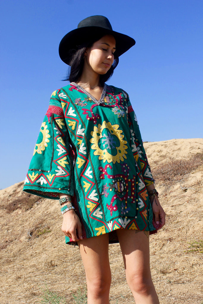 "SALE ""Gypsy Dreamer"" Hand Embroidered Suzani Tunic"