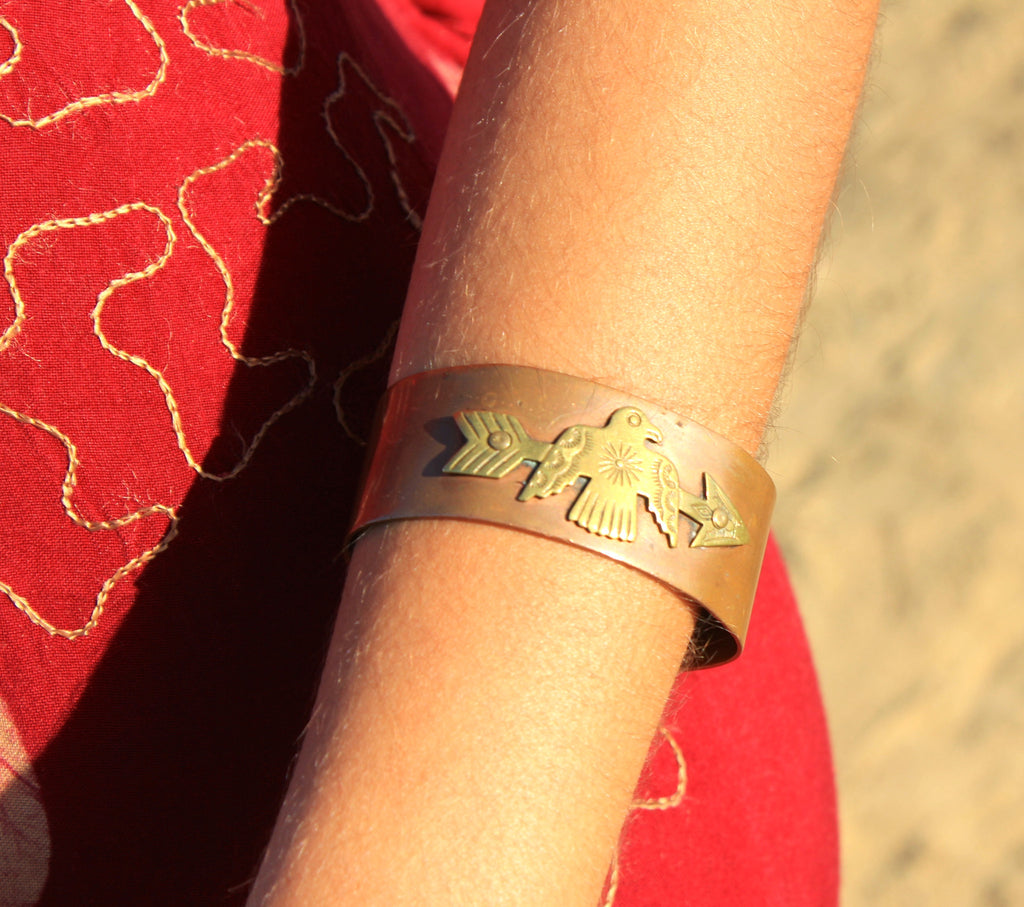 Copper Thunderbird Native American Cuff