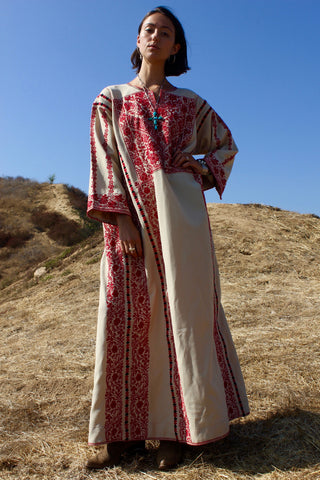 Vintage Hand Embroidered Bedouin Caftan
